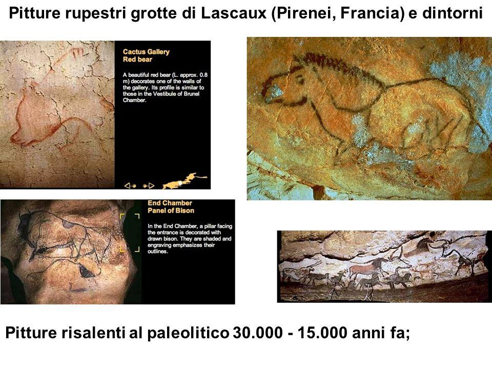 Pitture rupestri grotte di Lascaux (Pirenei, Francia) e dintorni