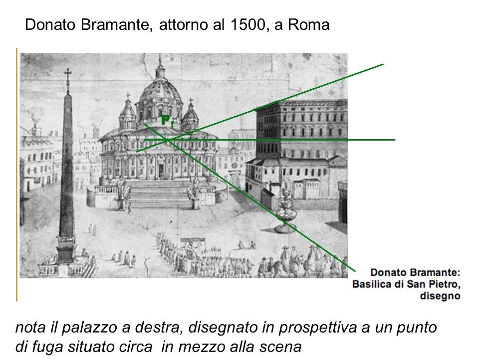Donato Bramante, attorno al 1500, a Roma