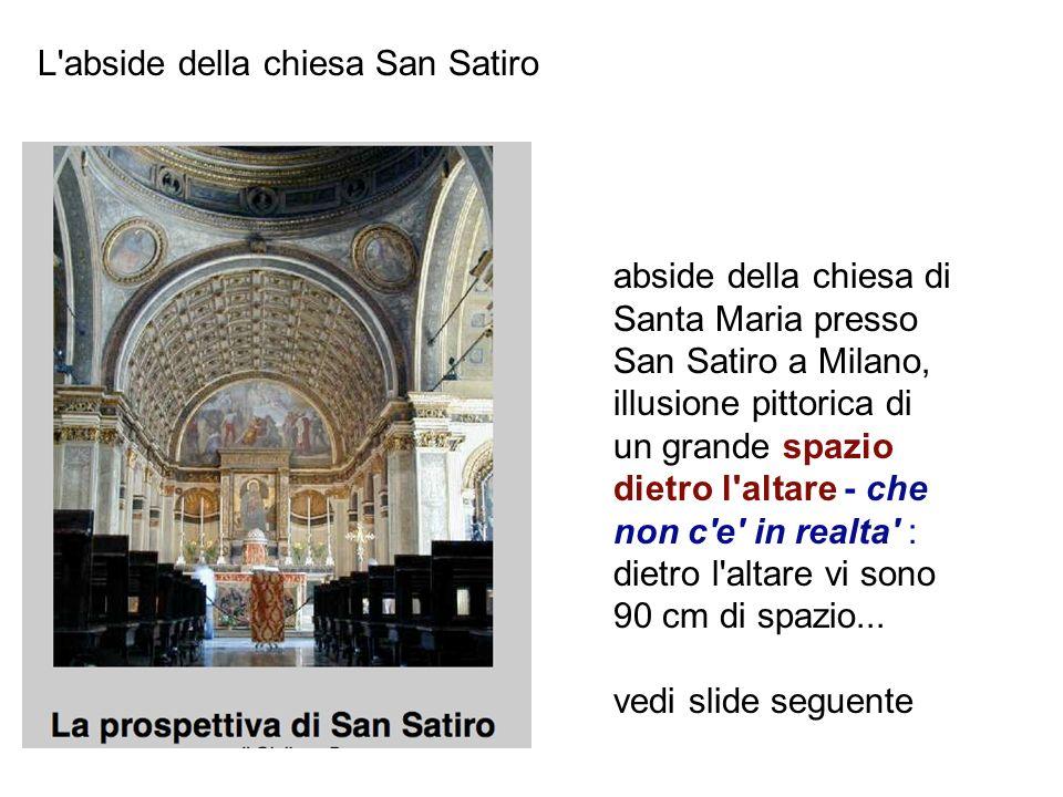 L abside della chiesa San Satiro