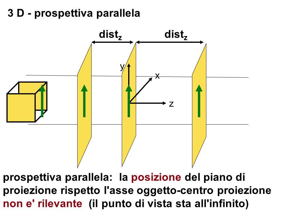 3 D - prospettiva parallela