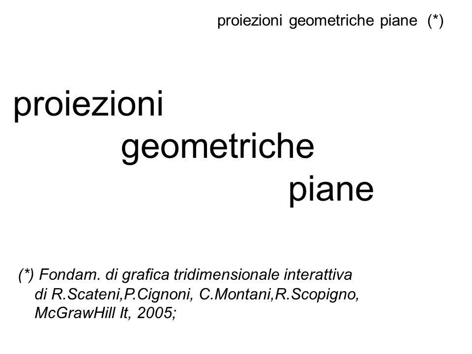 proiezioni geometriche piane (*)
