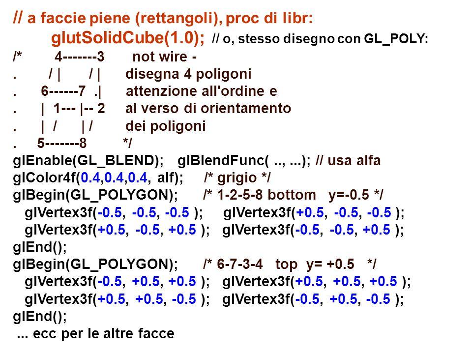 // a faccie piene (rettangoli), proc di libr: