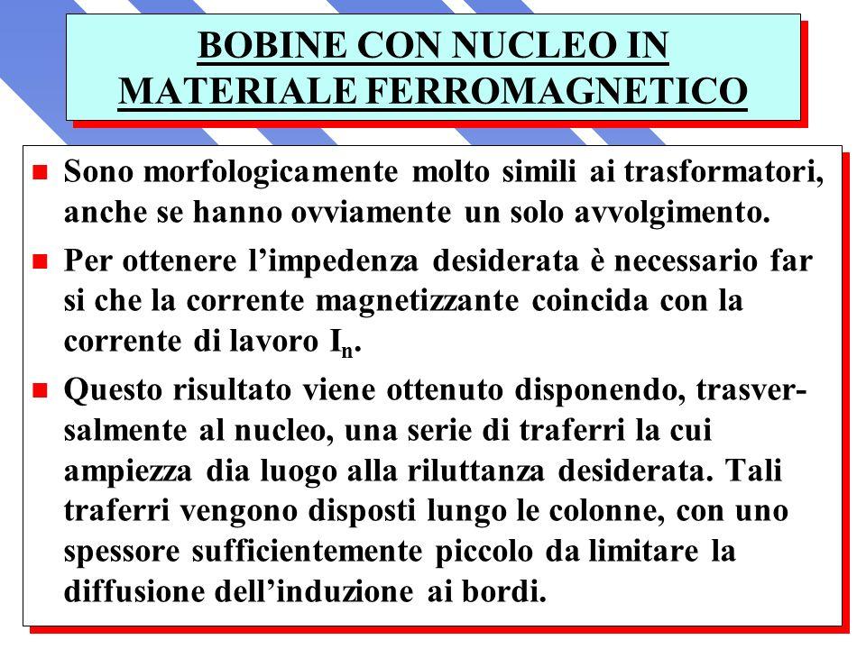 BOBINE CON NUCLEO IN MATERIALE FERROMAGNETICO