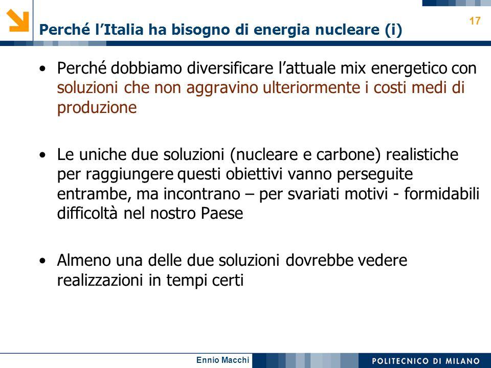 Perché l'Italia ha bisogno di energia nucleare (i)