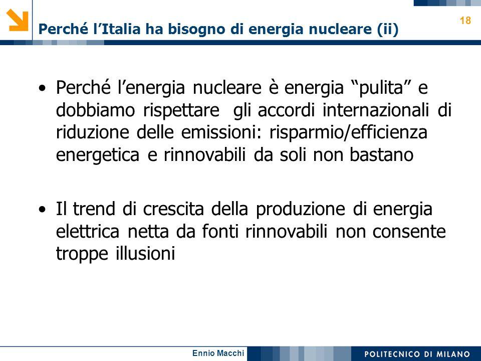 Perché l'Italia ha bisogno di energia nucleare (ii)