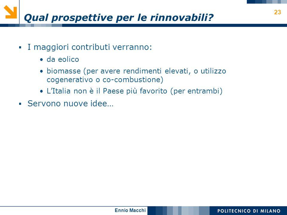 Qual prospettive per le rinnovabili