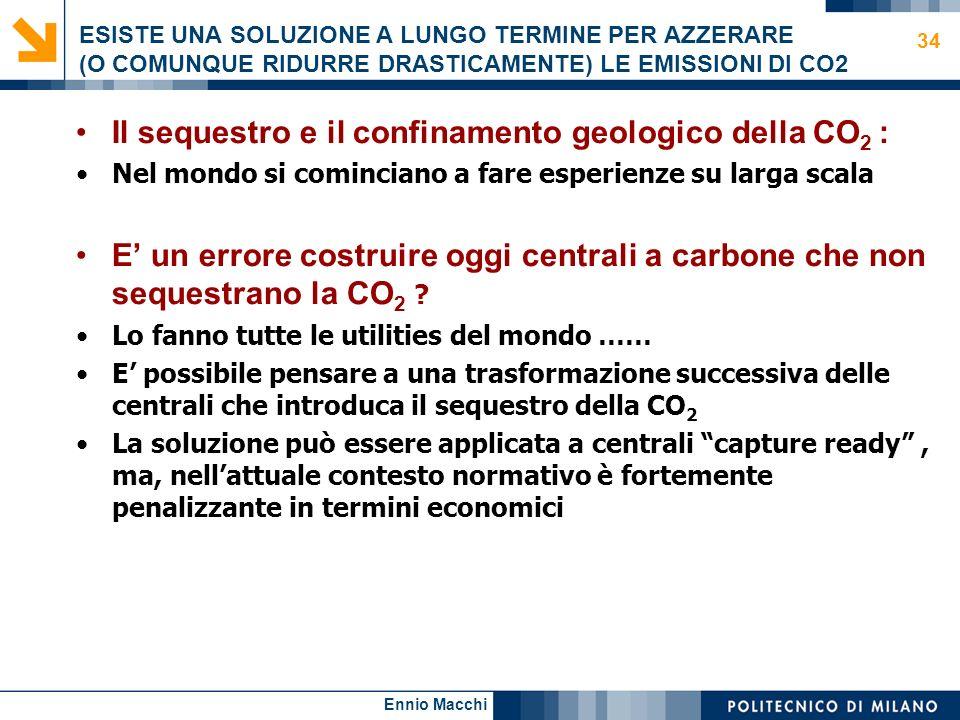 Il sequestro e il confinamento geologico della CO2 :