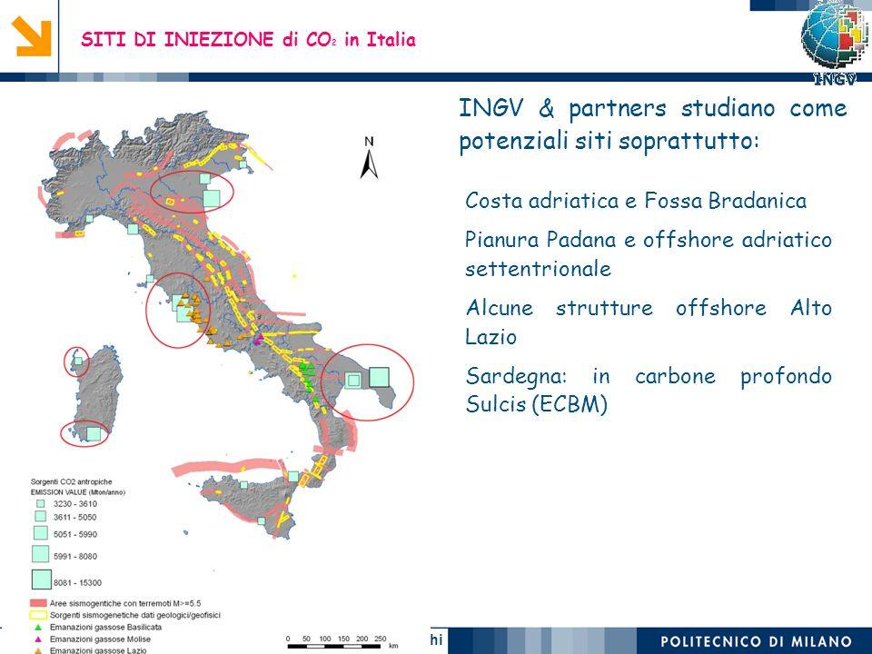 SITI DI INIEZIONE di CO2 in Italia