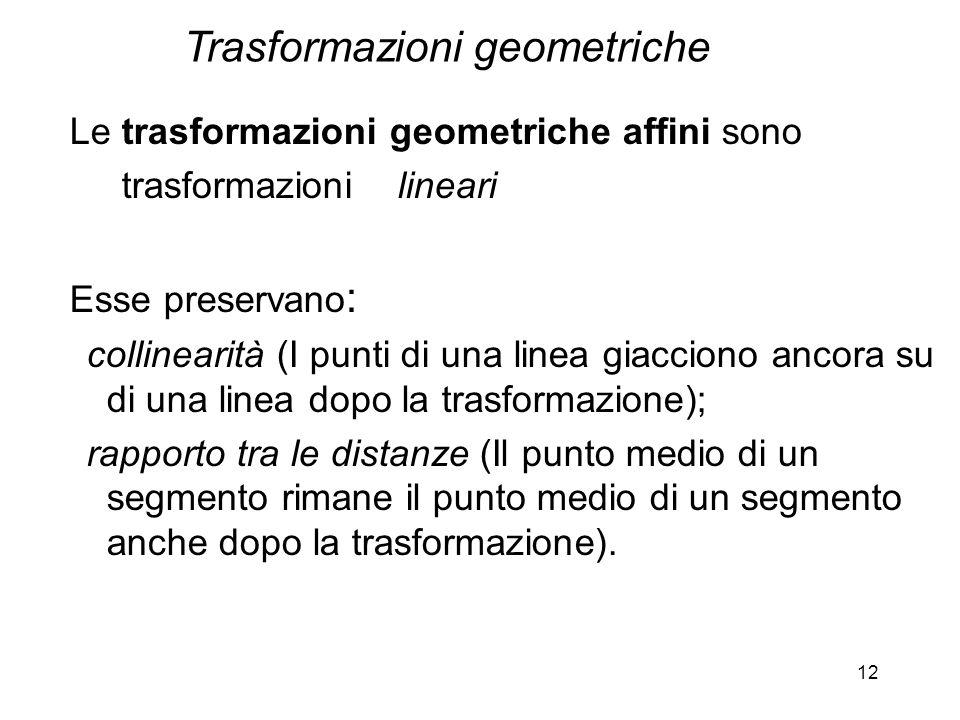 Trasformazioni geometriche