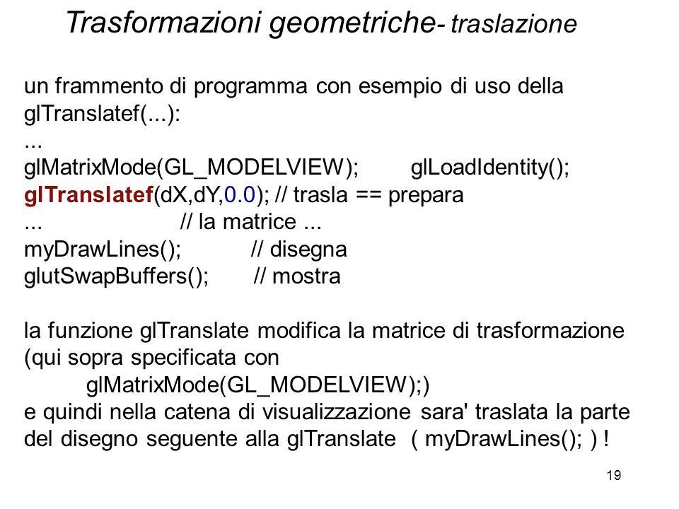 Trasformazioni geometriche- traslazione