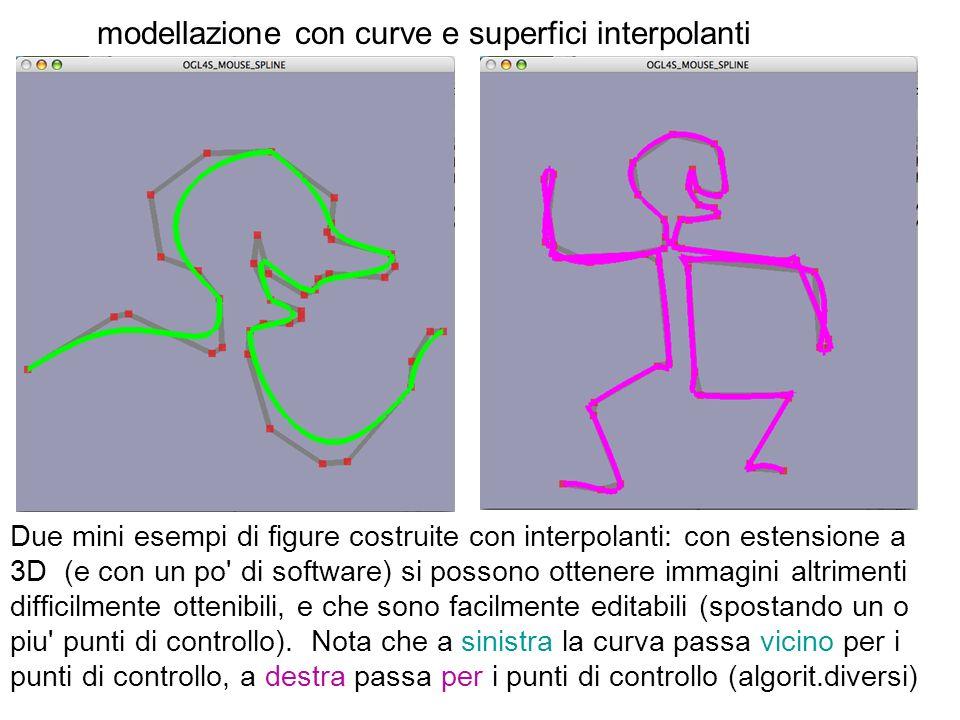 modellazione con curve e superfici interpolanti