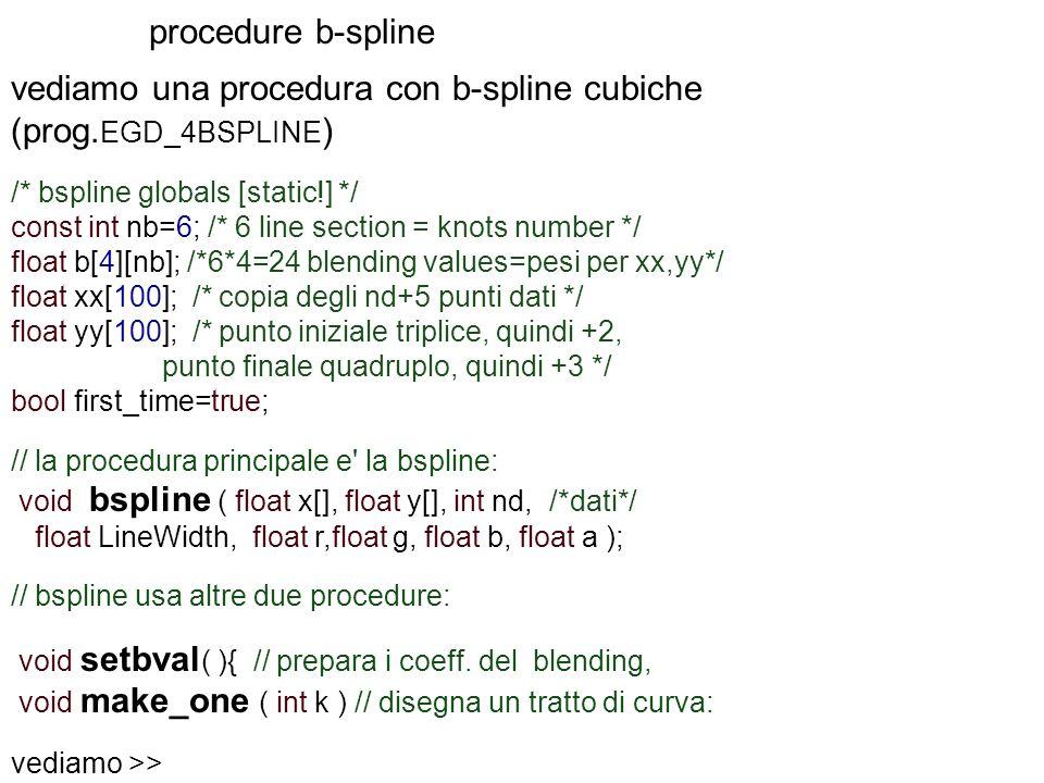 vediamo una procedura con b-spline cubiche (prog.EGD_4BSPLINE)