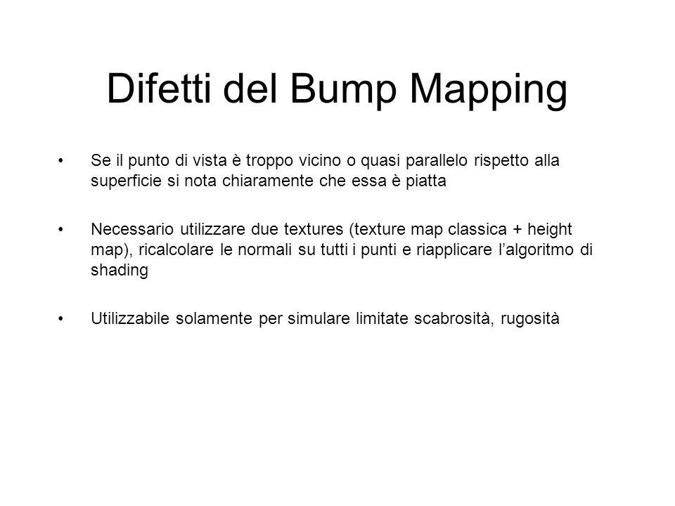 Difetti del Bump Mapping