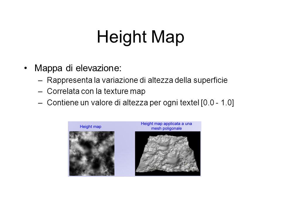 Height Map Mappa di elevazione: