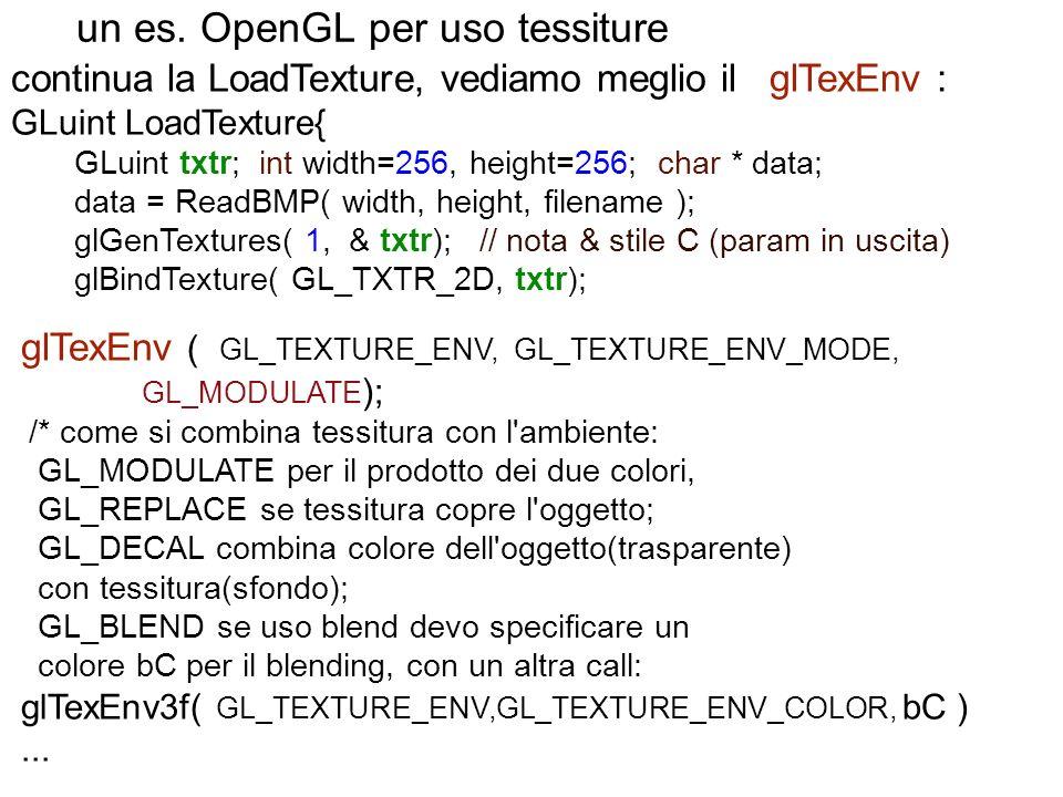 un es. OpenGL per uso tessiture