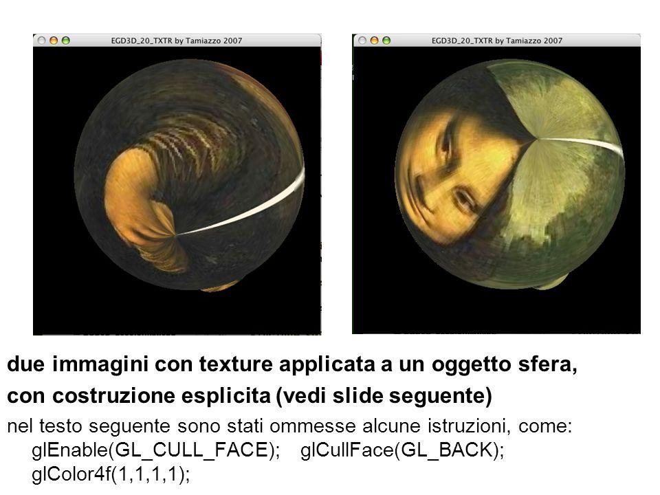 due immagini con texture applicata a un oggetto sfera,