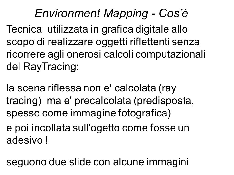 Environment Mapping - Cos'è