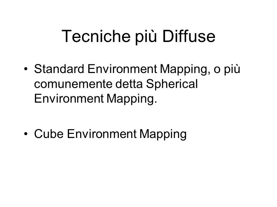 Tecniche più DiffuseStandard Environment Mapping, o più comunemente detta Spherical Environment Mapping.