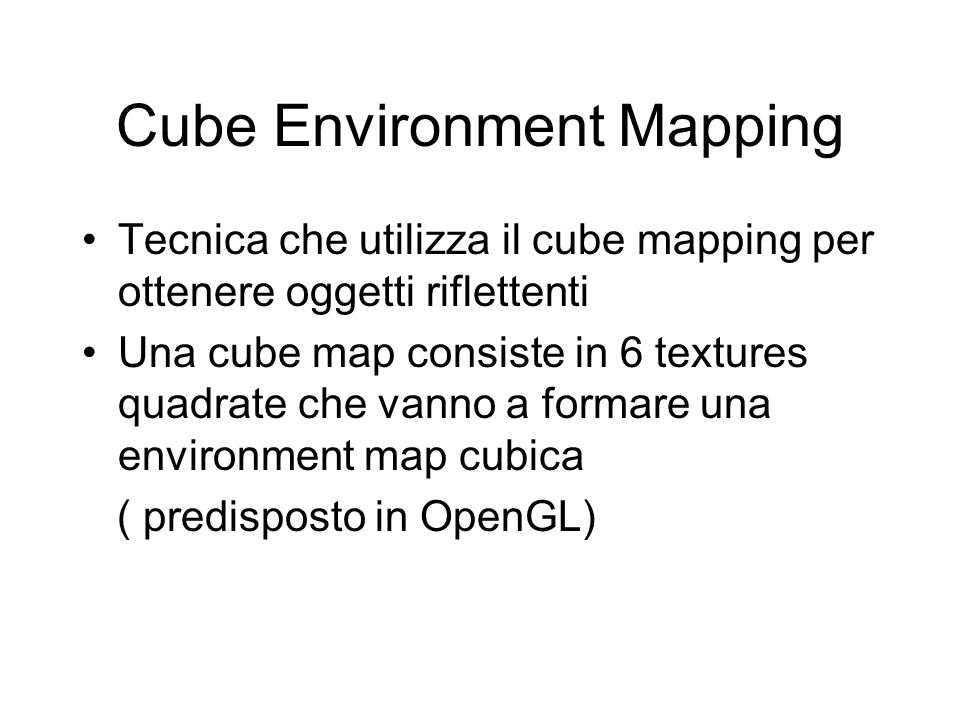 Cube Environment Mapping