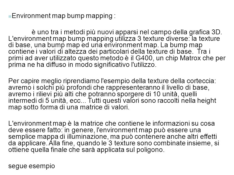 Environment map bump mapping :