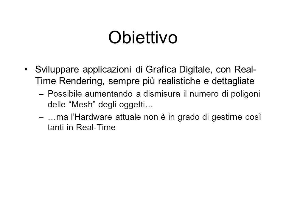 Obiettivo Sviluppare applicazioni di Grafica Digitale, con Real-Time Rendering, sempre più realistiche e dettagliate.