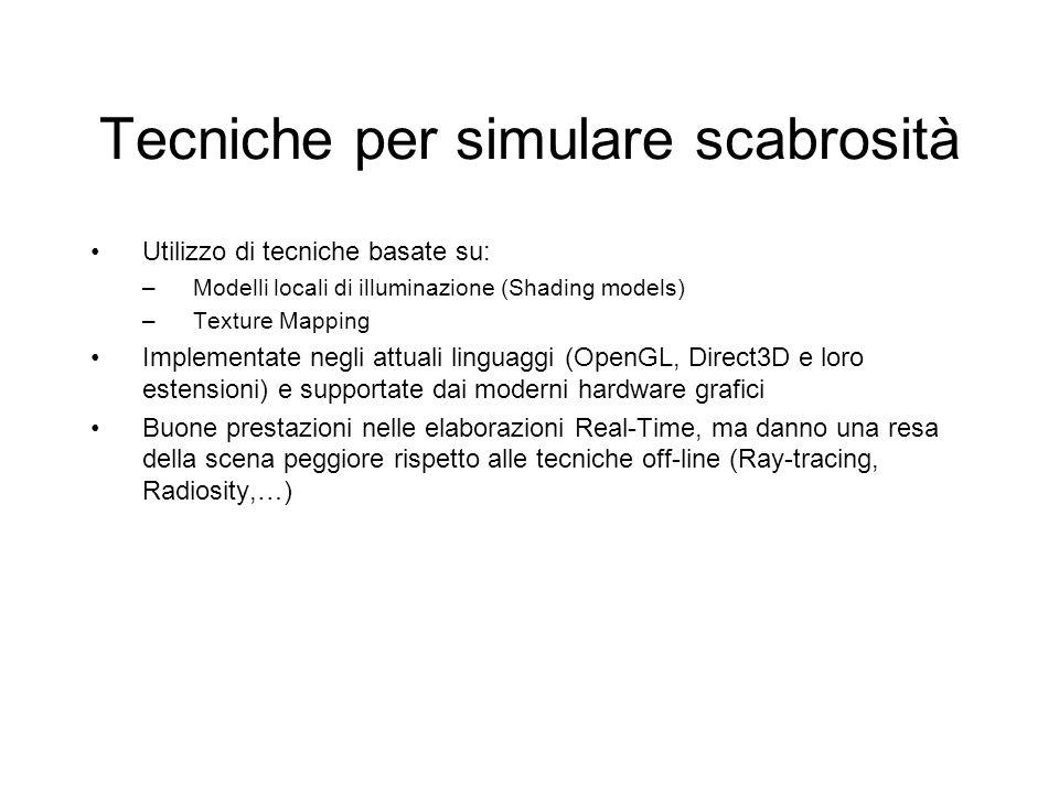 Tecniche per simulare scabrosità