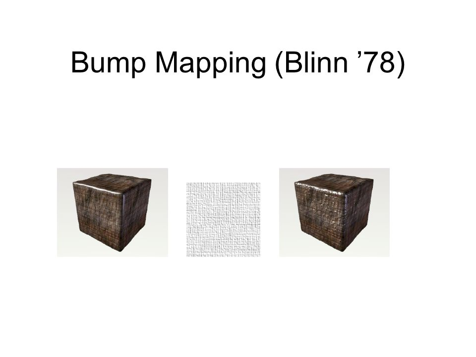 Bump Mapping (Blinn '78)