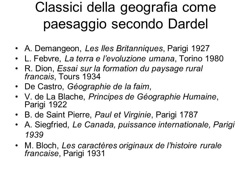 Classici della geografia come paesaggio secondo Dardel