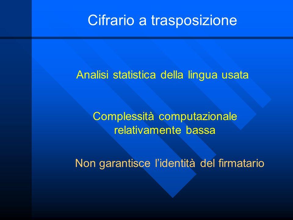 Cifrario a trasposizione