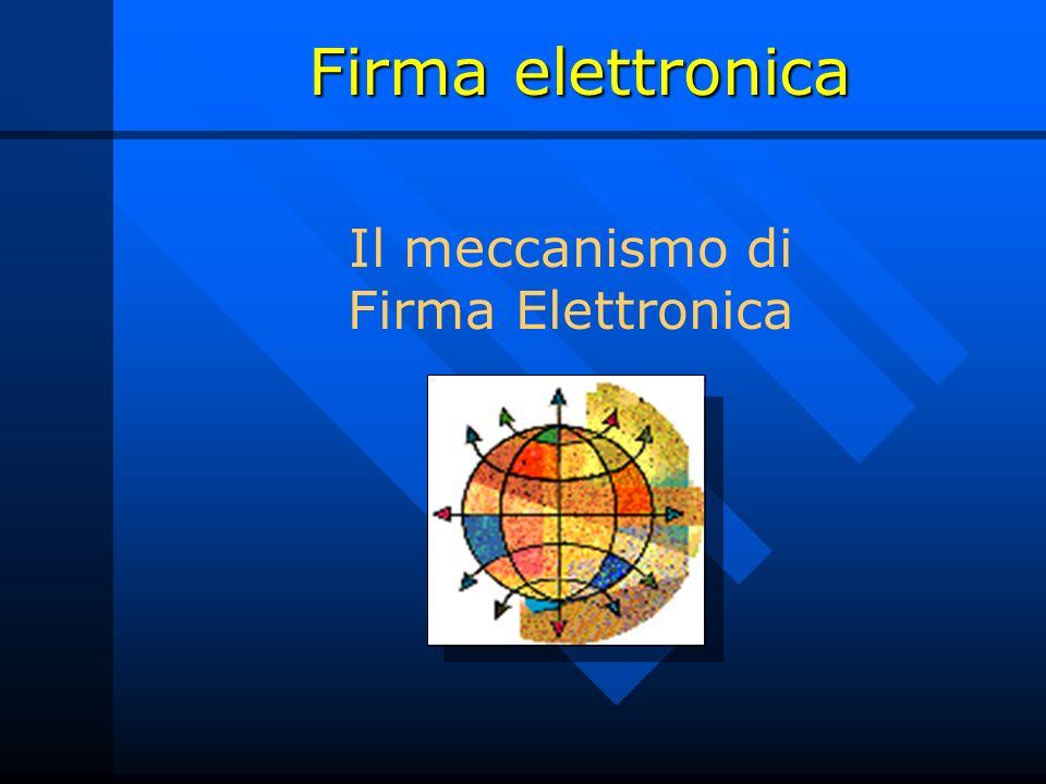 Il meccanismo di Firma Elettronica