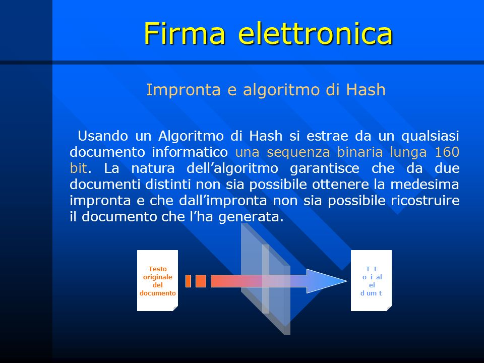 Testo originale del documento