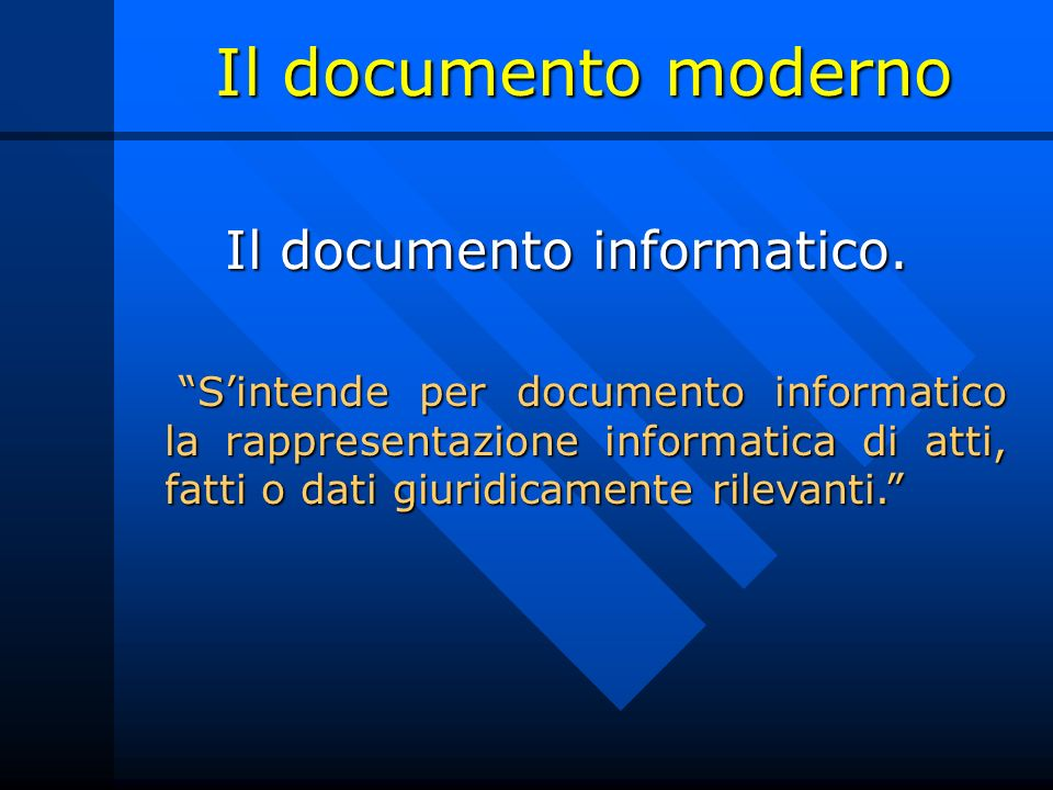 Il documento informatico.