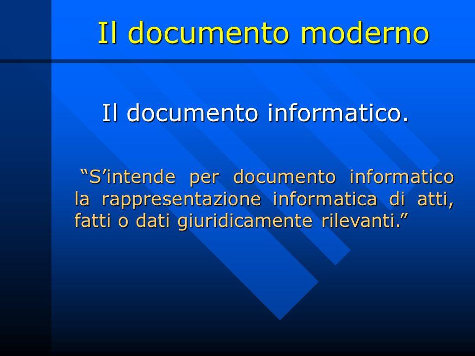 Il documento informatico.