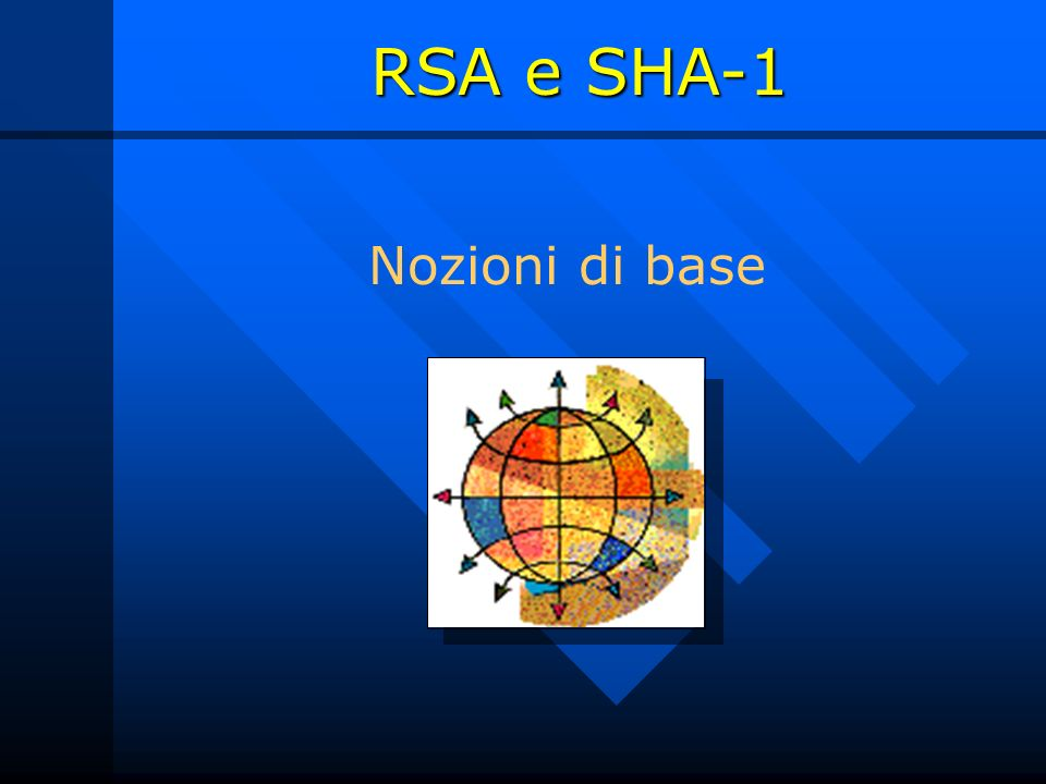 RSA e SHA-1 Nozioni di base