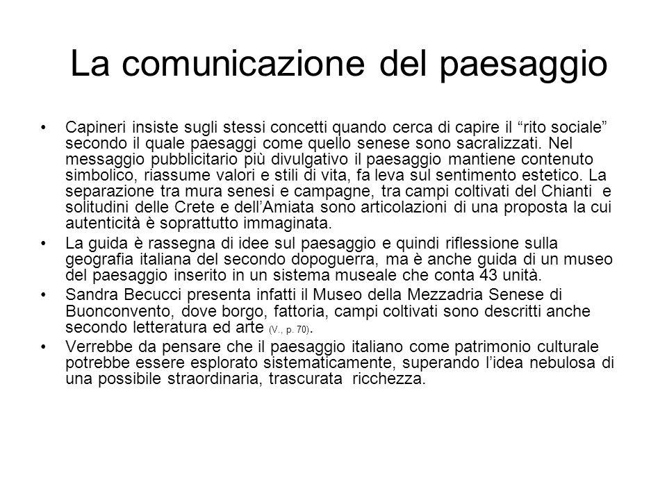 La comunicazione del paesaggio