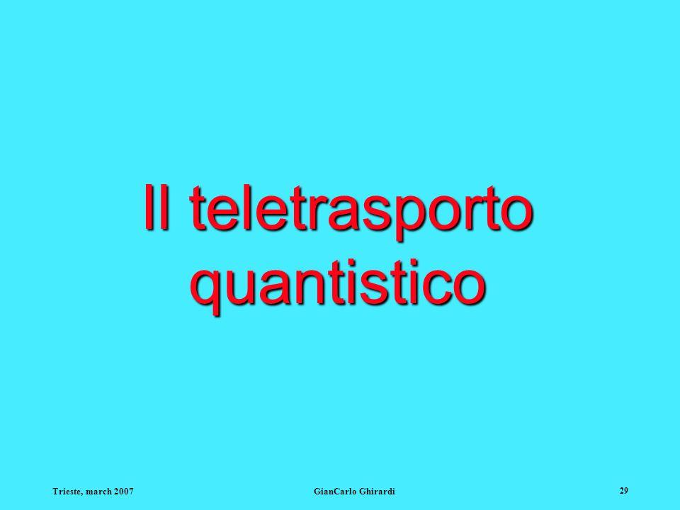 Il teletrasporto quantistico