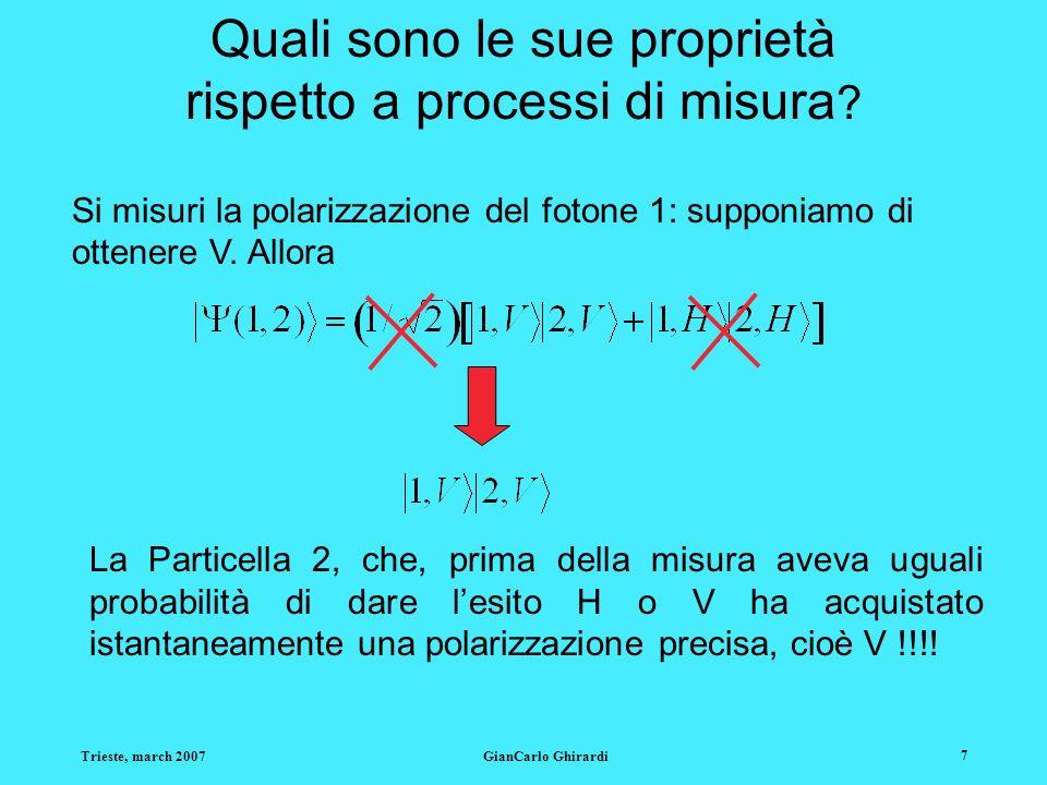 Quali sono le sue proprietà rispetto a processi di misura
