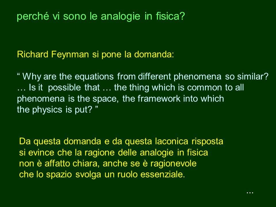perché vi sono le analogie in fisica