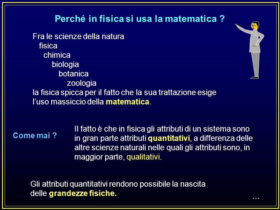 Perché in fisica si usa la matematica
