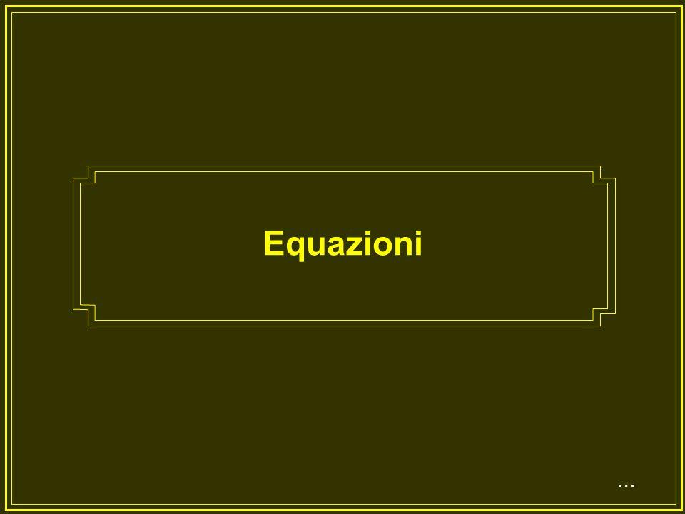 Equazioni ...