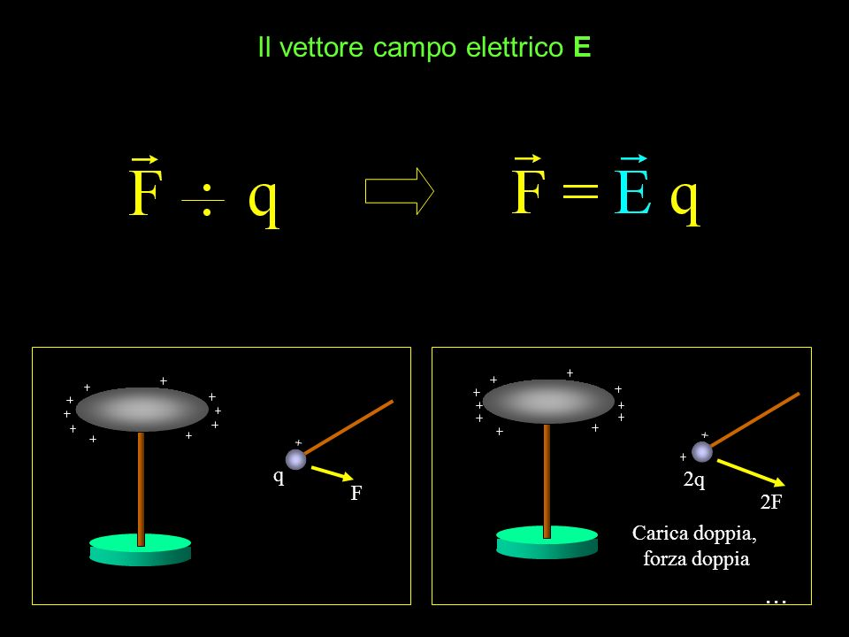 Il vettore campo elettrico E