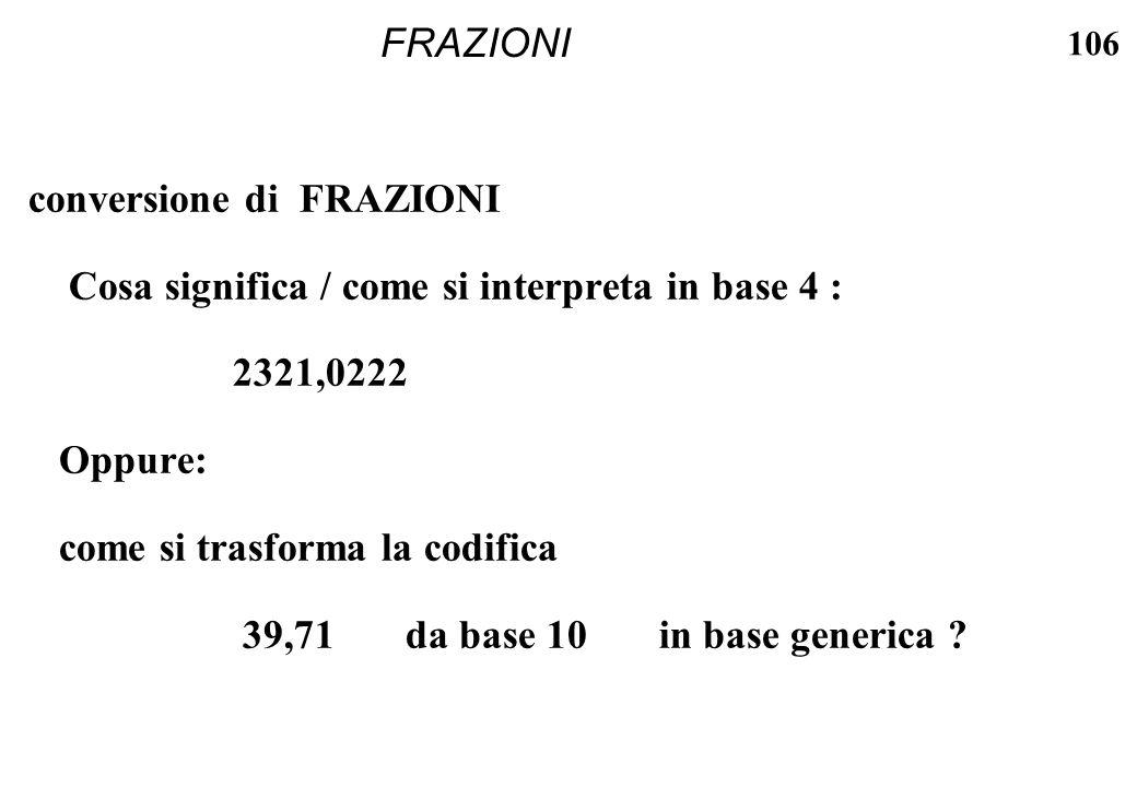 FRAZIONI conversione di FRAZIONI. Cosa significa / come si interpreta in base 4 : 2321,0222. Oppure: