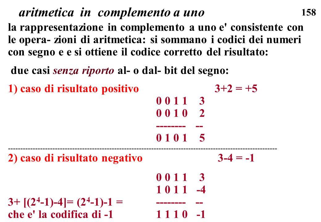 aritmetica in complemento a uno