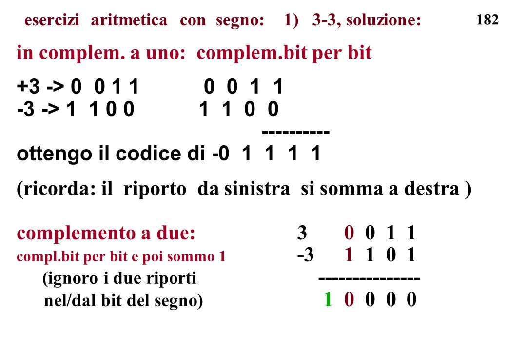 esercizi aritmetica con segno: 1) 3-3, soluzione: