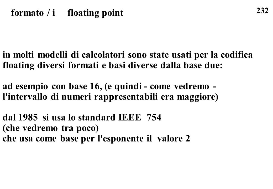 formato / i floating point