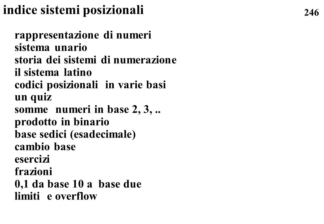 indice sistemi posizionali