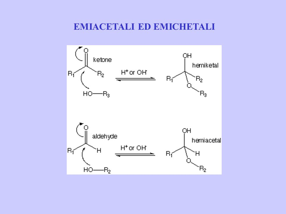 EMIACETALI ED EMICHETALI