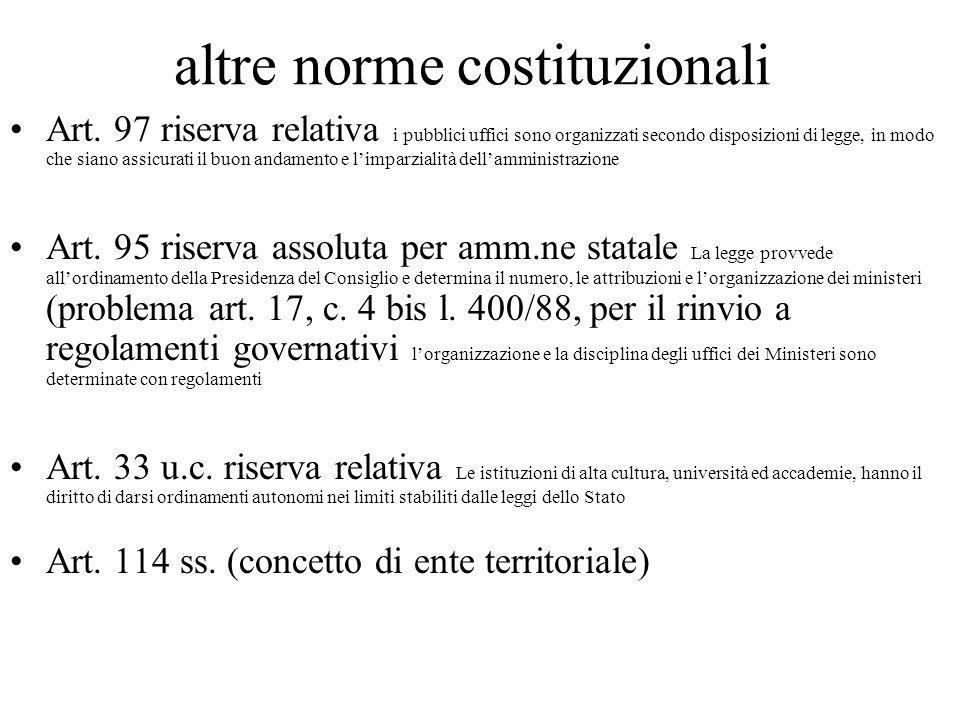altre norme costituzionali