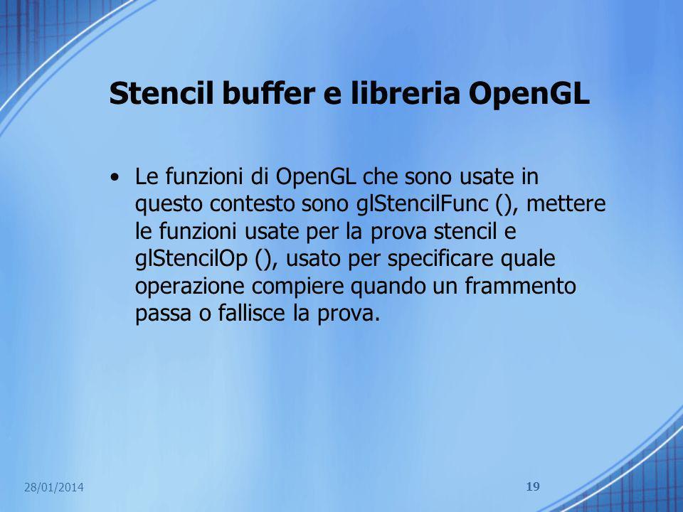 Stencil buffer e libreria OpenGL
