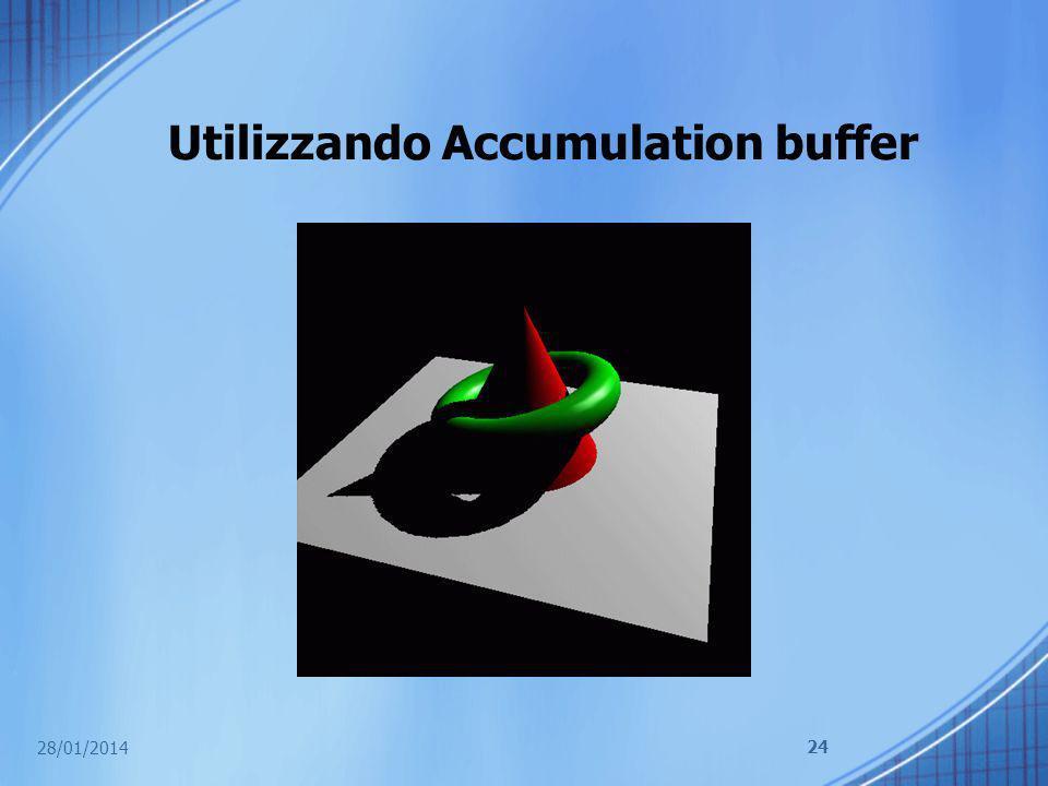 Utilizzando Accumulation buffer